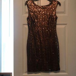 Light brown sequence dress